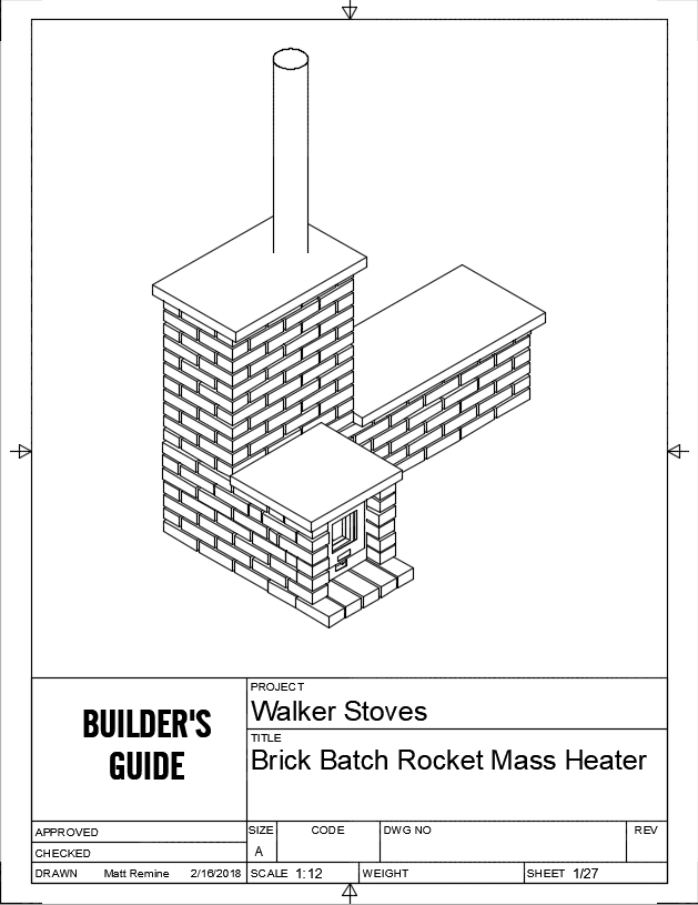Batch Rocket M Heater Plans - WalkerStoves.com on